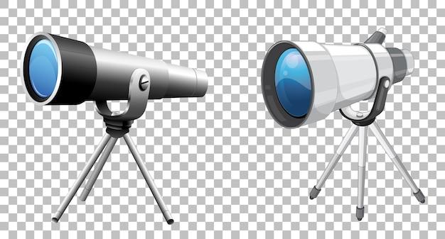 Teleskoptechnik auf transparent