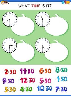 Telling time clock gesicht lernspiel