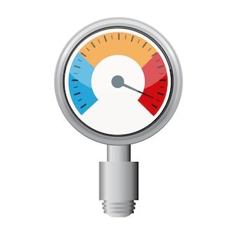 Temperaturanzeige, die beim grillen mit dem gerät verwendet wird