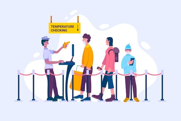 Temperaturprüfung in öffentlichen bereichen