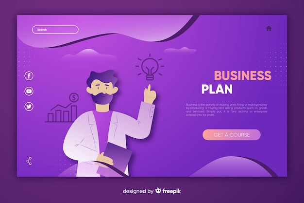 Template business landing page