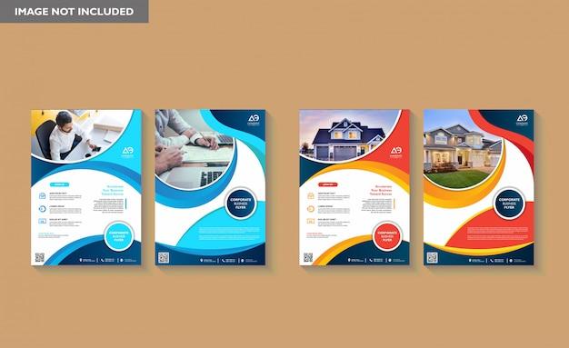Template-design für unternehmenspräsentation