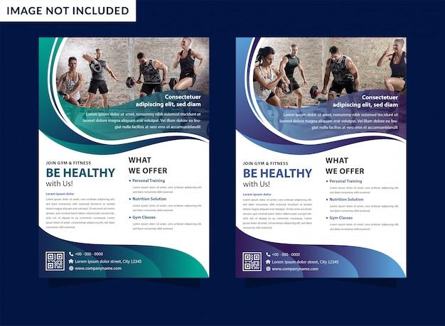 Template-design mit dynamischen wellen flyer und linien für sportereignis, turnier oder meisterschaft.