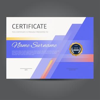 Template design von modernen zertifikaten