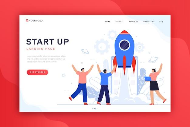 Template-konzept für start-landing-page