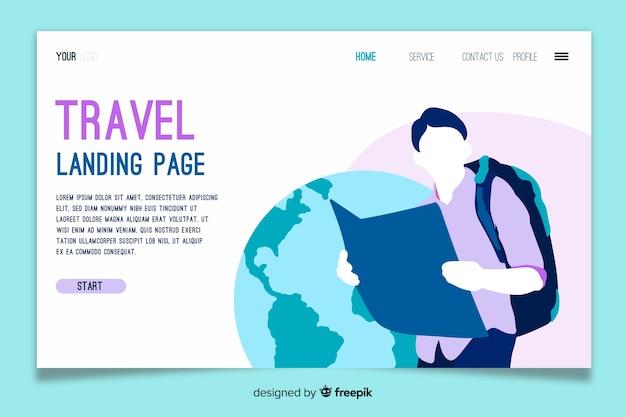 Template landing page reisen