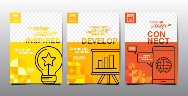 Template-layout-design, business-cover-buch, gelbton