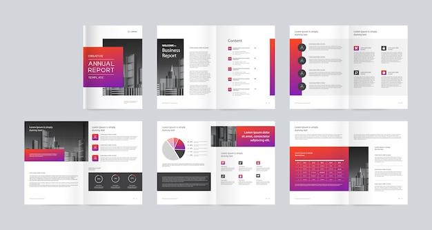 Template-layout-design mit deckblatt für firmenprofil und broschüren