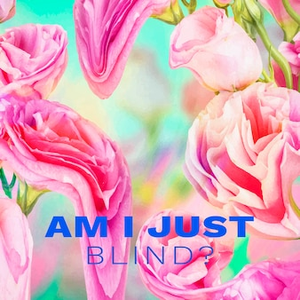 Template-vektor-instagram-post, florales psychedelisches romantisches zitat