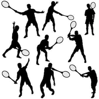 Tenis silhouette gesetzt