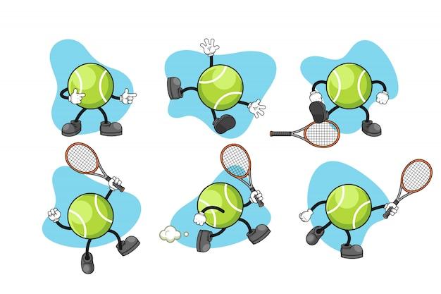 Tennis cartoon zeichensatz