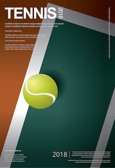 Tennis championship poster abbildung