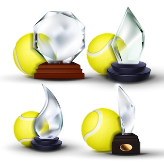 Tennis game award set