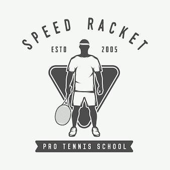 Tennis-logo, abzeichen