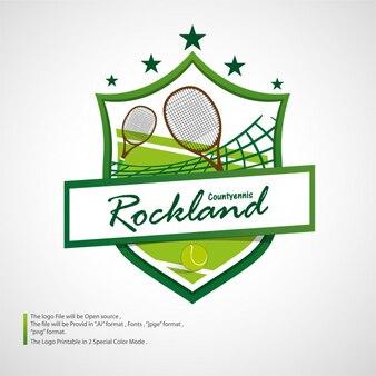 Tennis logo turnier grün