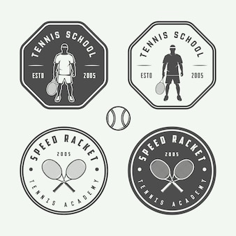 Tennis logos, embleme, abzeichen
