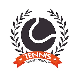Tennis-meisterschaft-ball-label-design