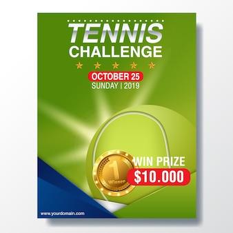 Tennis-meisterschaft-plakat-vektor-illustration