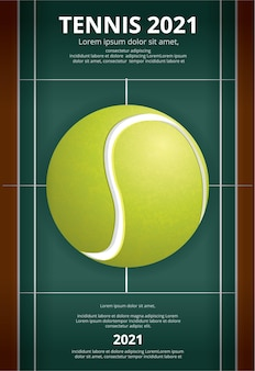 Tennis meisterschaft poster illustration