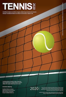 Tennis meisterschaft poster illustration