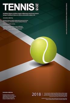 Tennis-meisterschafts-plakat-vektorillustration