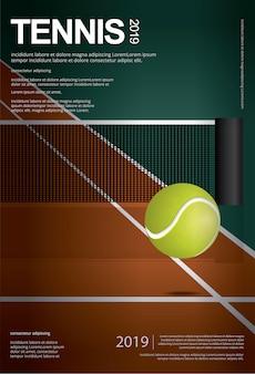 Tennis-meisterschaftsplakat