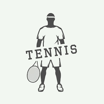 Tennis- oder sportmotivationsplakat