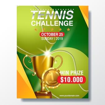 Tennis poster mit tennisball