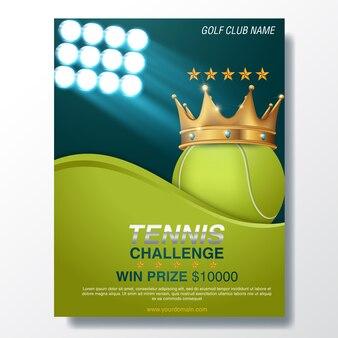 Tennis wettbewerb front flyer vorlage