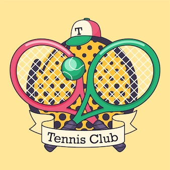 Tennisclub vektor-logo.