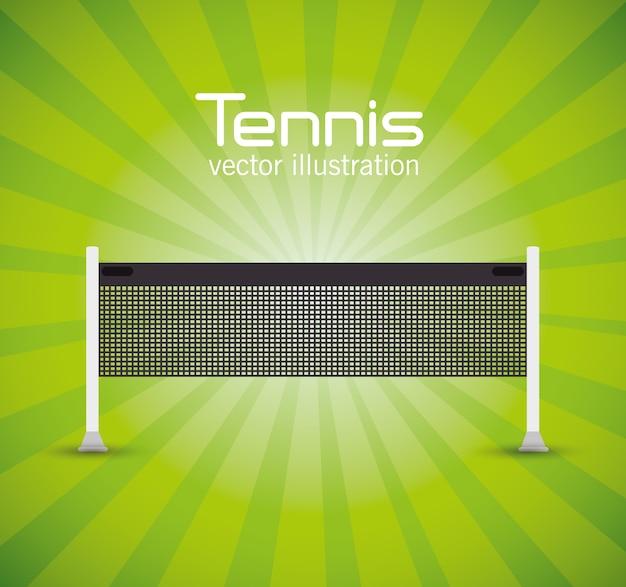 Tennisnetzgrünheller hintergrundvektorillustration env 10