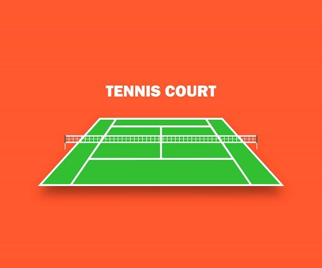 Tennisplatz mit schatten