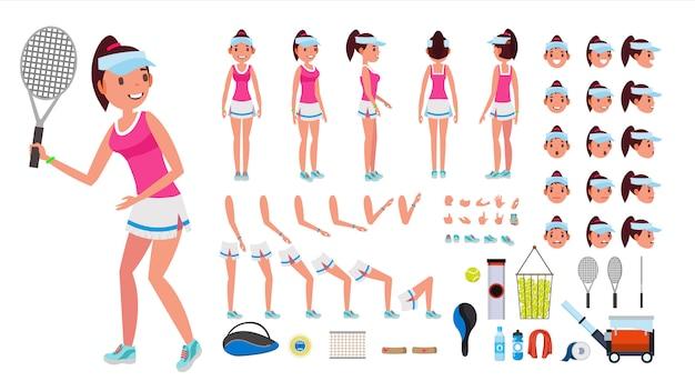 Tennisspielerin weibliche figur.
