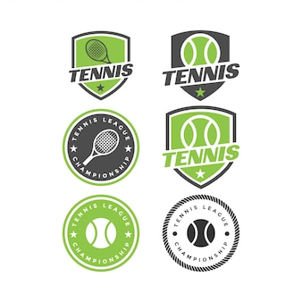 Tennissportvektor-grafikdesigninspiration