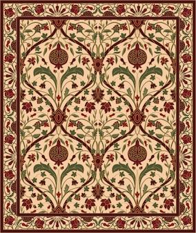 Teppich mit granatapfel.