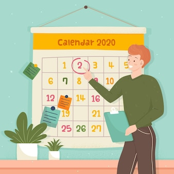Terminbuchung im kalenderstil