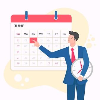 Terminbuchung und zeitmanagement