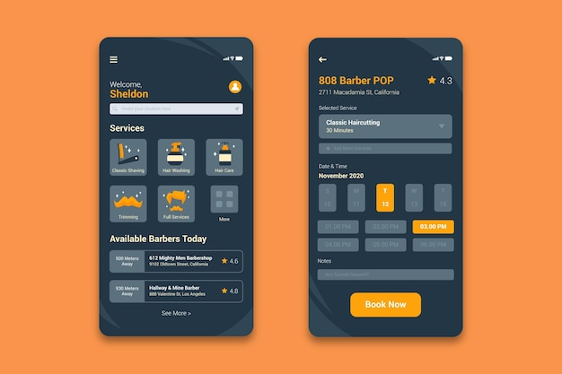 Terminbuchungs-app für friseurladen
