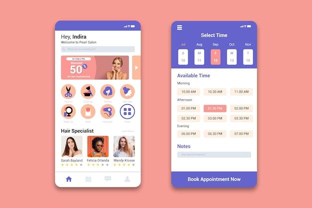 Terminbuchungs-app für schönheitssalon
