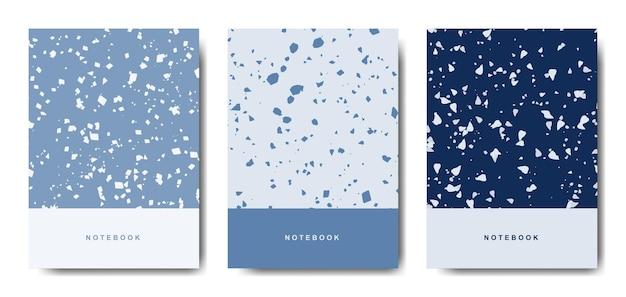 Terrazzo abstrakte deckblattvorlagen.