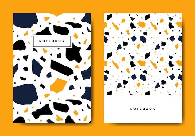 Terrazzo abstrakte deckblattvorlagen