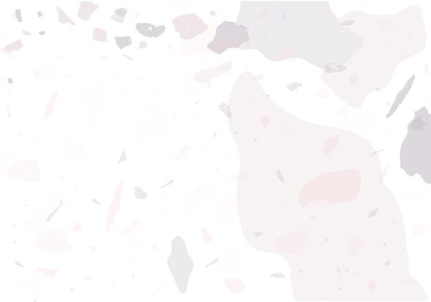 Terrazzo moderne abstrakte vorlage. rosa und graue textur des klassischen italienischen bodenbelags. venezianischer terrazzo trendiger vektorhintergrund hintergrund aus steinen, granit, quarz, marmor, beton.
