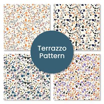 Terrazzo-musterset für fliesen.