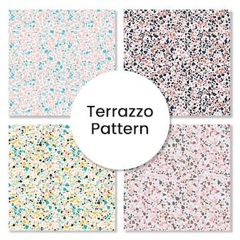 Terrazzo-musterset - nahtlose mustersammlung