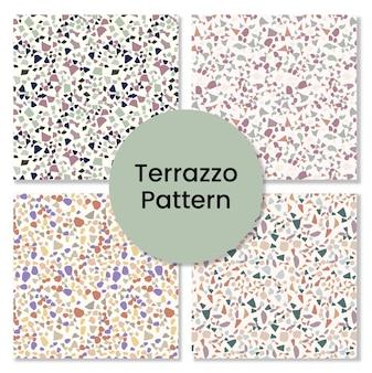 Terrazzo-musterset.