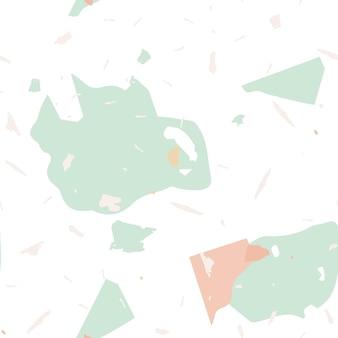 Terrazzo-nahtloses muster. erdige minimalistische bodenfliese für die inneneinrichtung. terrazzo-nahtloses muster in kühlen farben. hintergrund aus natursteinen, granit, quarz, marmor, beton.