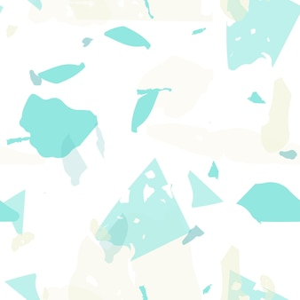 Terrazzo-nahtloses muster. pastell venezianische pflasterimitation fliese. terrazzo-nahtloses muster in kühlen farben. hintergrund aus natursteinen, granit, quarz, marmor, beton.