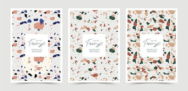 Terrazzo-textur in pastellfarbe