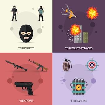 Terrorismus-flachsatz