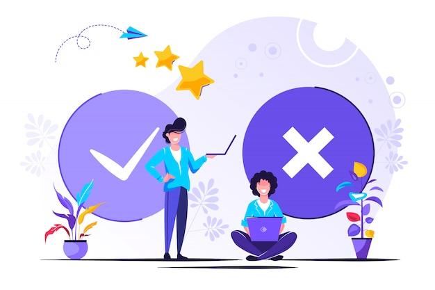 Test im kundenumfrageformular ausfüllen